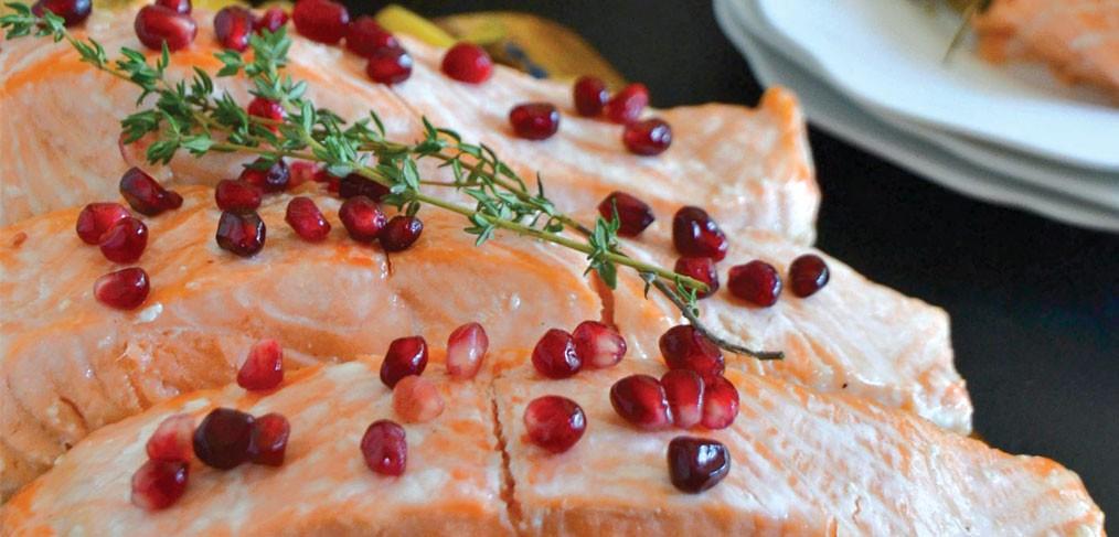 Maple Glazed Salmon with Maple Rye Grilled Acorn Squash